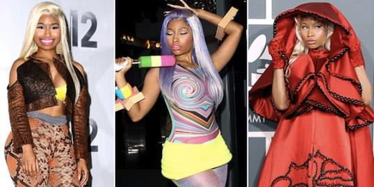 Photo: Nicki Minaj // Jason LaVeris/FilmMagic; Neil Mockford/FilmMagic; Steve Granitz/WireImage.com
